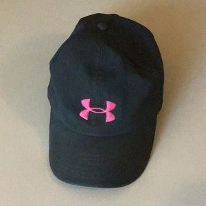 Under Armor Woman's Black and Pink Cap
